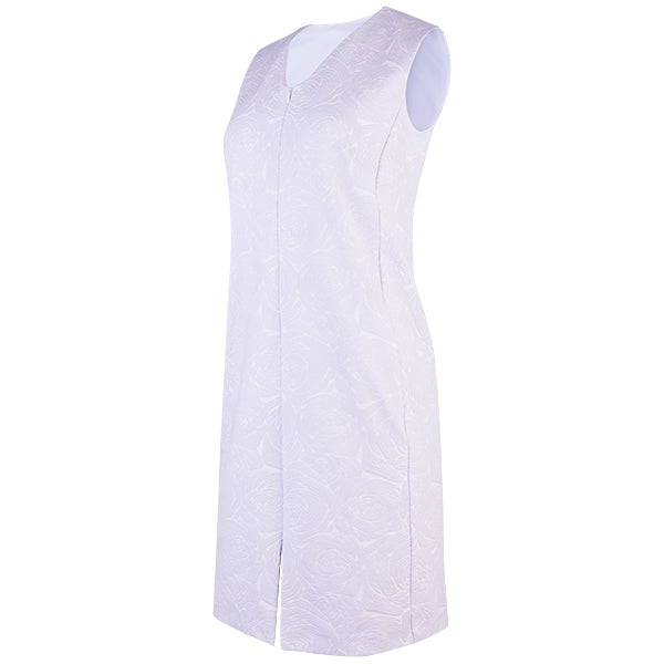 Sleeveless V-Neck Zip Front Dress in Wisteria