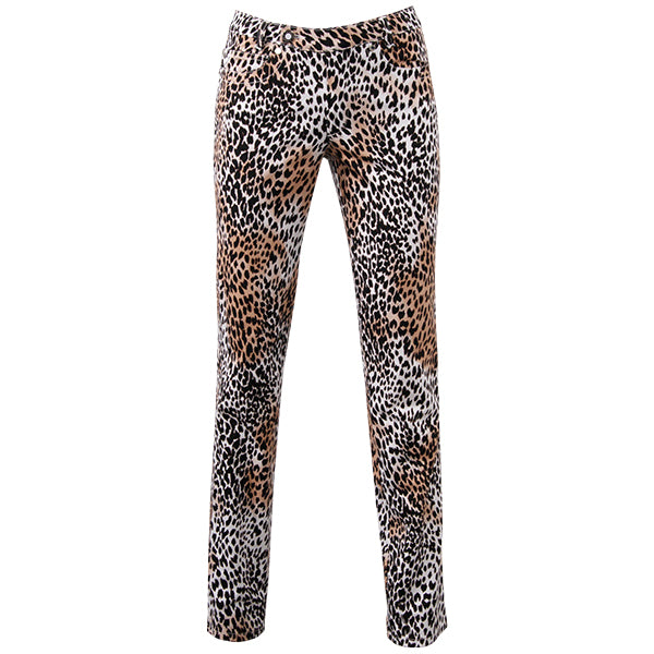 Printed Straight Leg Jean In Petite Snow Leopard