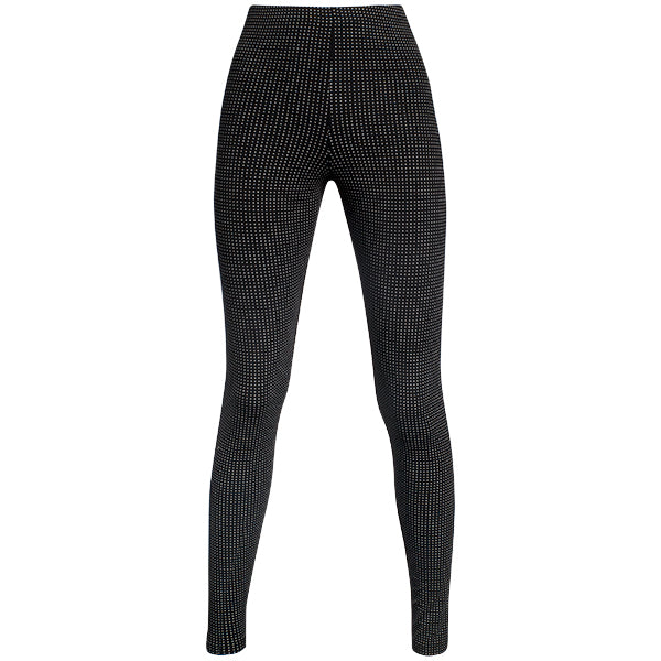 Printed Viscose Legging In Blk/White Pin Dot