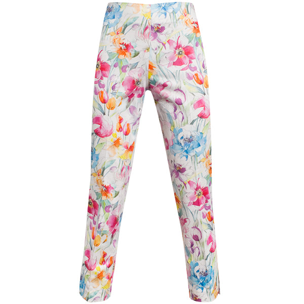 Printed Capri In Watercolor Flower