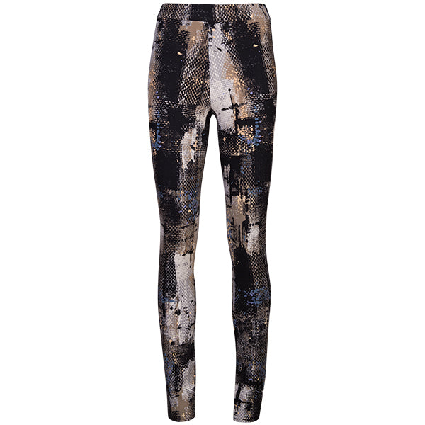 Printed Pull On Pant In Painted Abstract