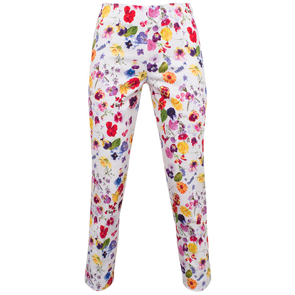 Printed Capri In Edible Flowers