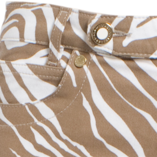 Printed Twill Jean In Natural Zebra
