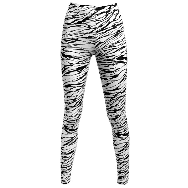 Printed Supplex Legging In Black Modern Zebra