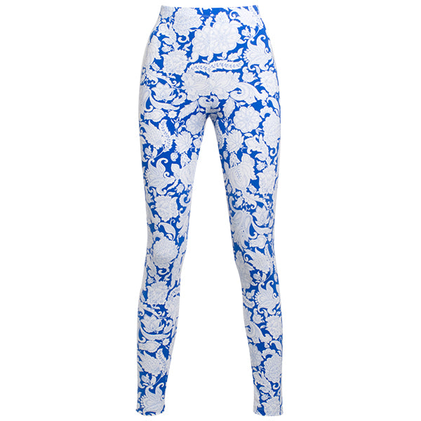 Printed Viscose Legging In Blue Provence