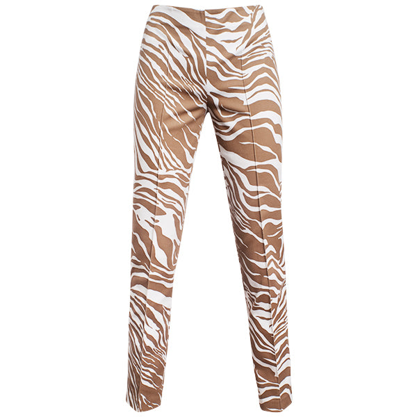 Printed Contour Pant In Natural Zebra