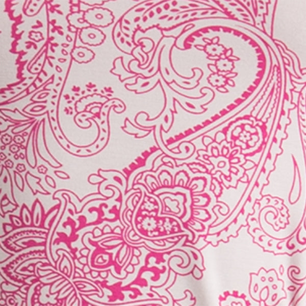 Printed Tee in Fuxia Paisley