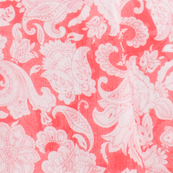 Printed Silk Crepon Skirt in Coral Provence