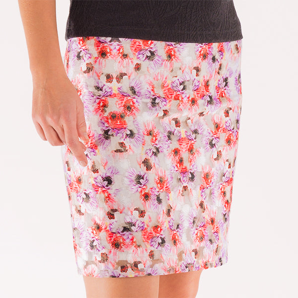 Poppy Filcoupe Skirt in Paper Poppies