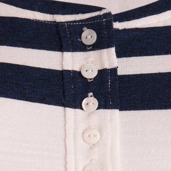 Viscose Stripe Jersey Tee in Navy/White Stripe
