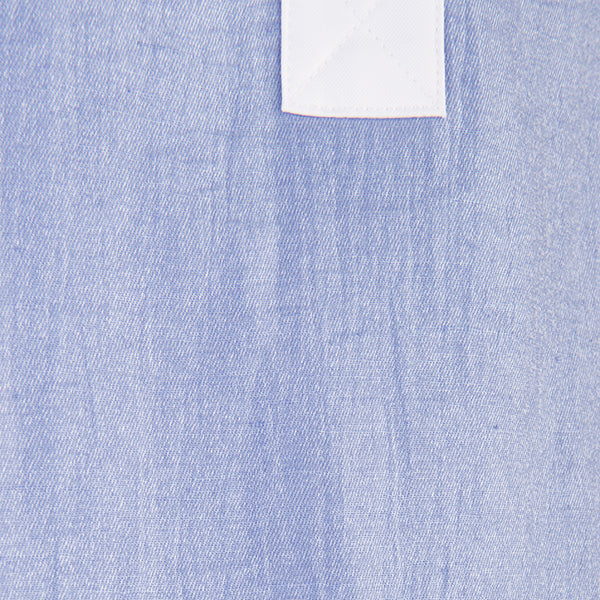 Crinkle Linen Rugby Shirt in Periwinkle