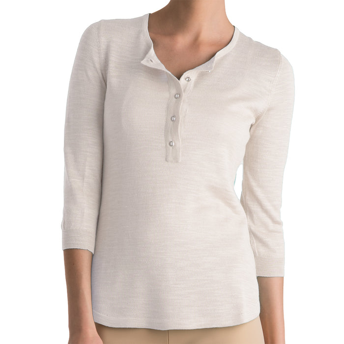 Wild Silk Tunic Sweater in Cream: