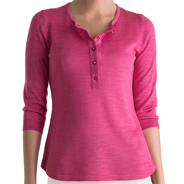 Wild Silk Tunic Sweater in Fuxia: