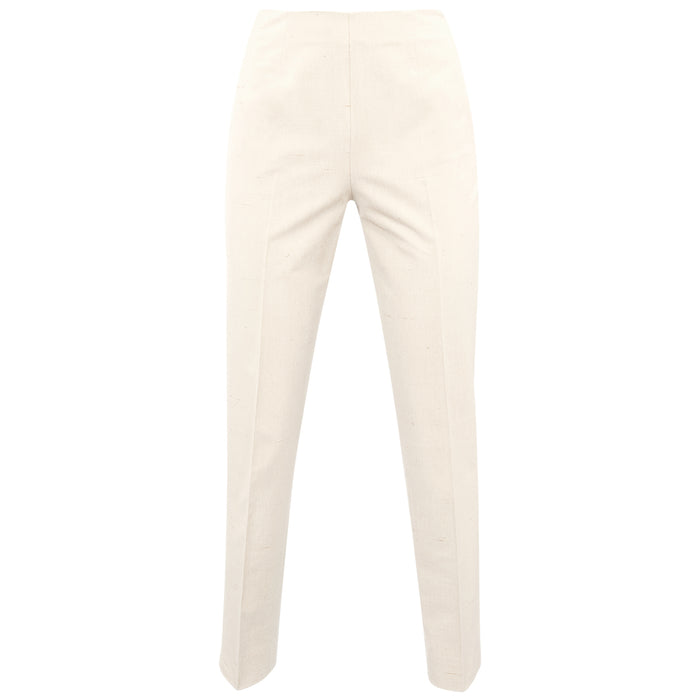 Shantung Side Zip Pant in Flax