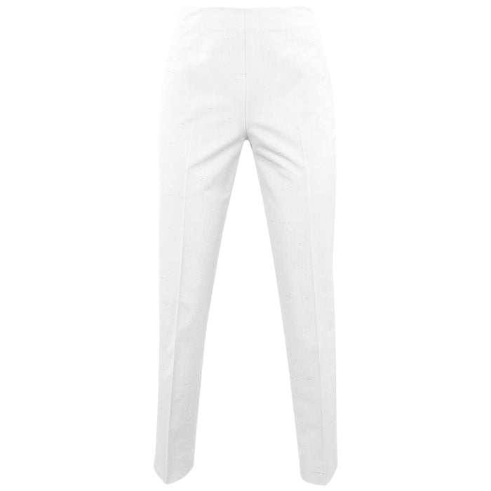 Shantung Side Zip Pant in White