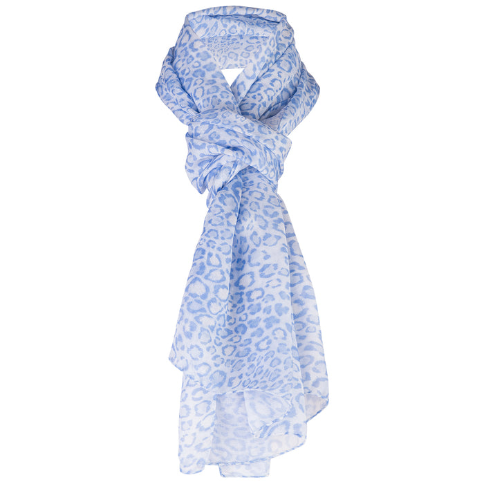 Modal Scarf in Belluno Leo Light Blue