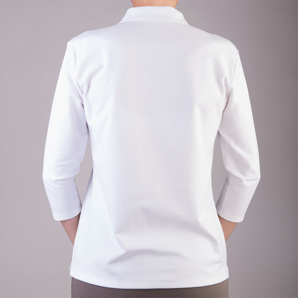 Polo Collar Tee in White