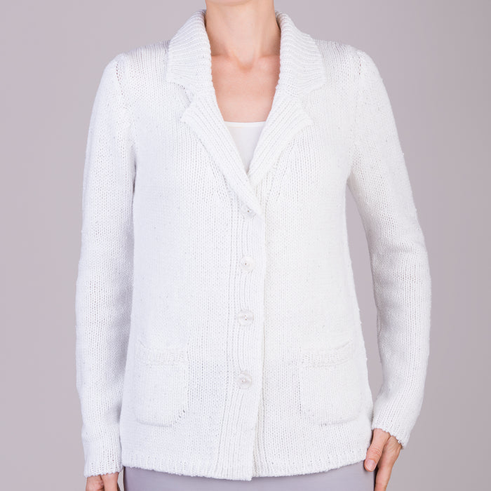 Vista Cardigan in White