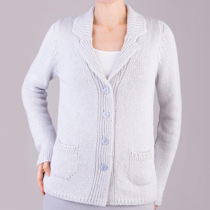 Vista Cardigan in Silver Grey