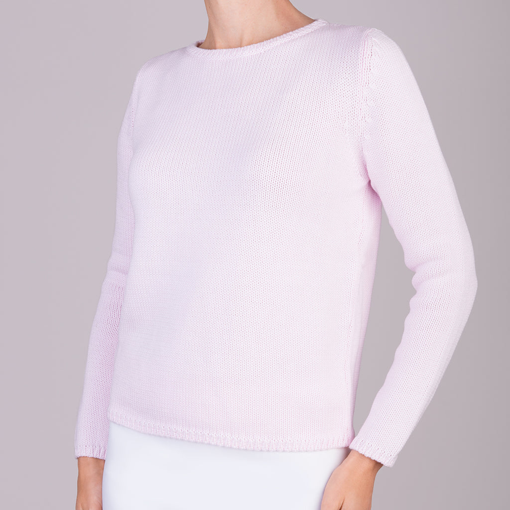 Long Sleeve Pullover in Angelwing