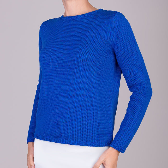 Long Sleeve Pullover in Azure