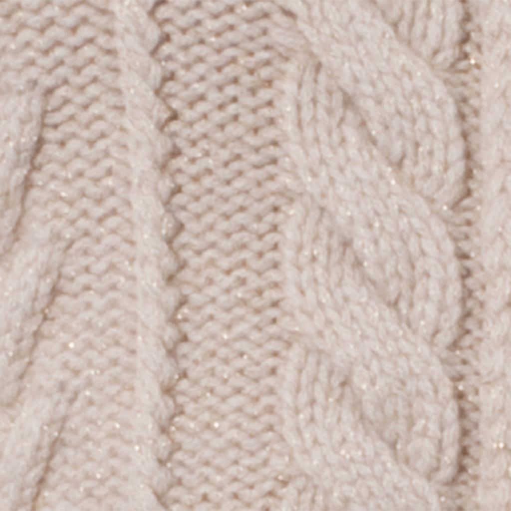 Cashmere Cable Zip in Cream