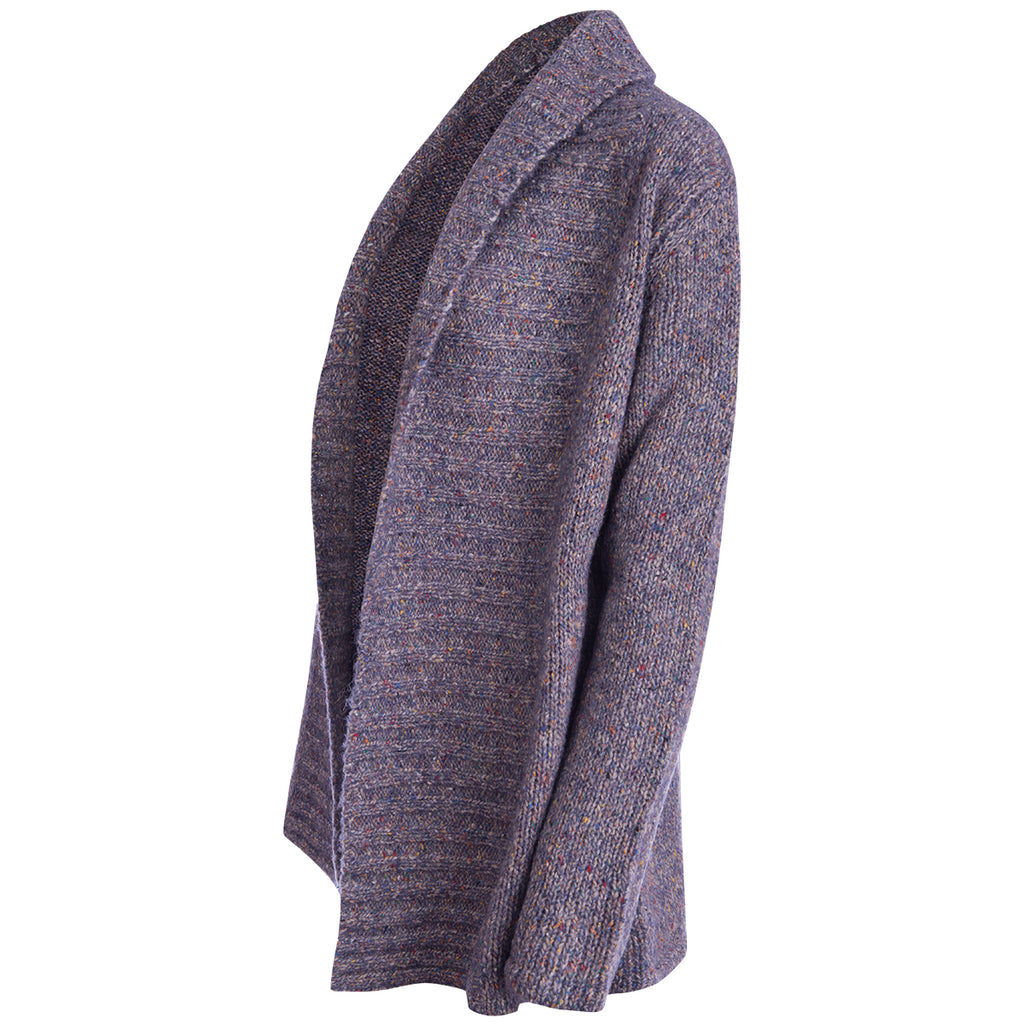 Wide Collar Cardigan in Jasper Lilac