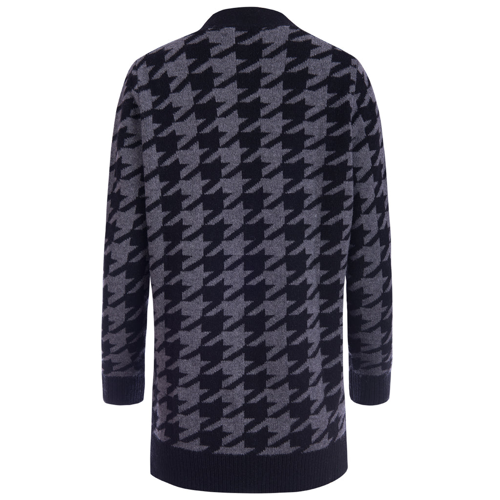 Houndstooth Cardigan in Black