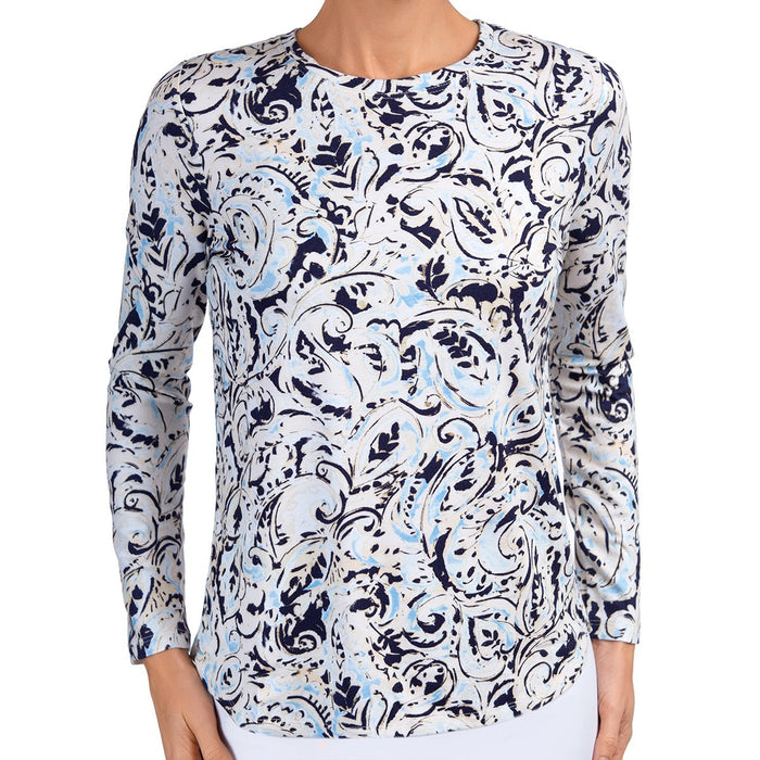 Yoke Relaxed Tee in Paisley Splash