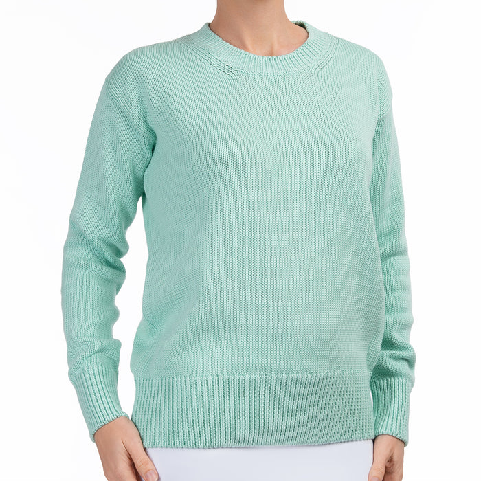Oversized Round Neck Pullover in Mint