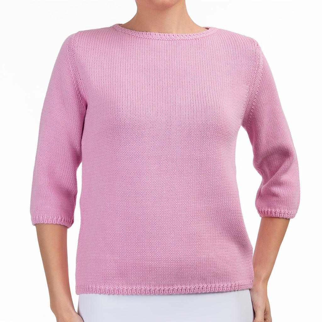 3/4 Sleeve Pullover in Bubble Gum