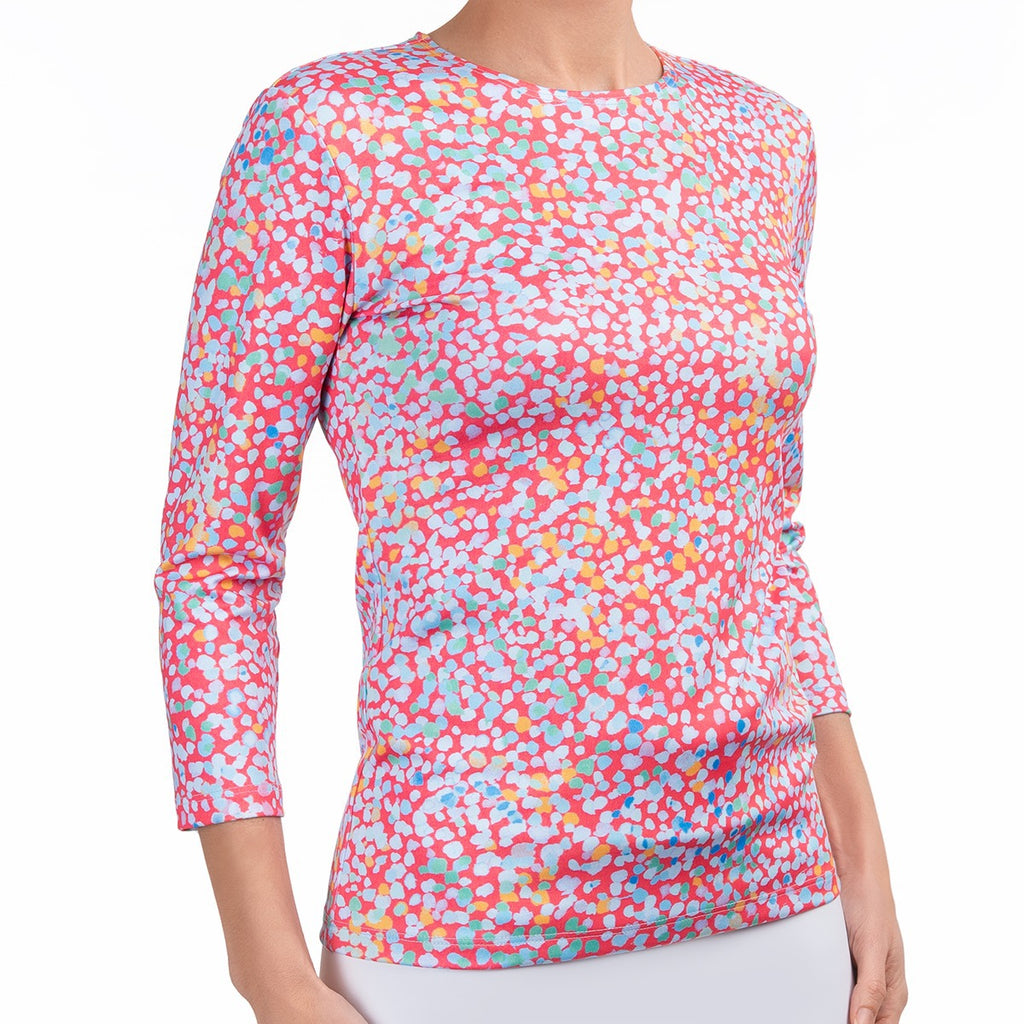 Shaped Knit Tee in Mosaic Rosa