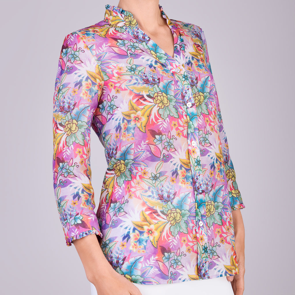 Fantasia Shirt in Lush Tropical