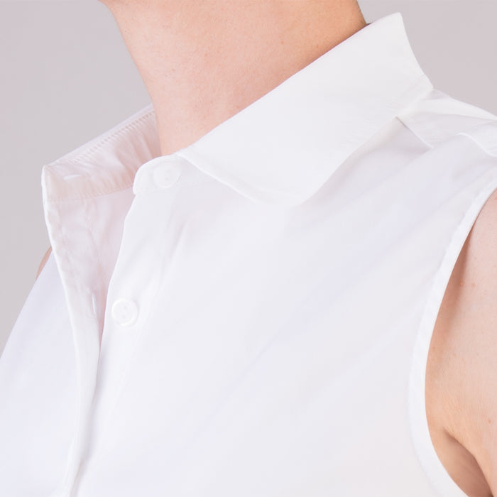 Kelly Sleeveless Shirt in White