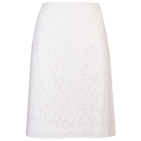 Lace Skirt in Foiled Silver Lace