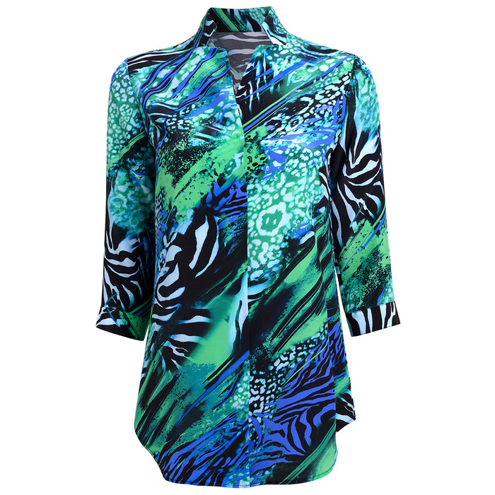 Silk Inverted Tunic in Jungle Animals