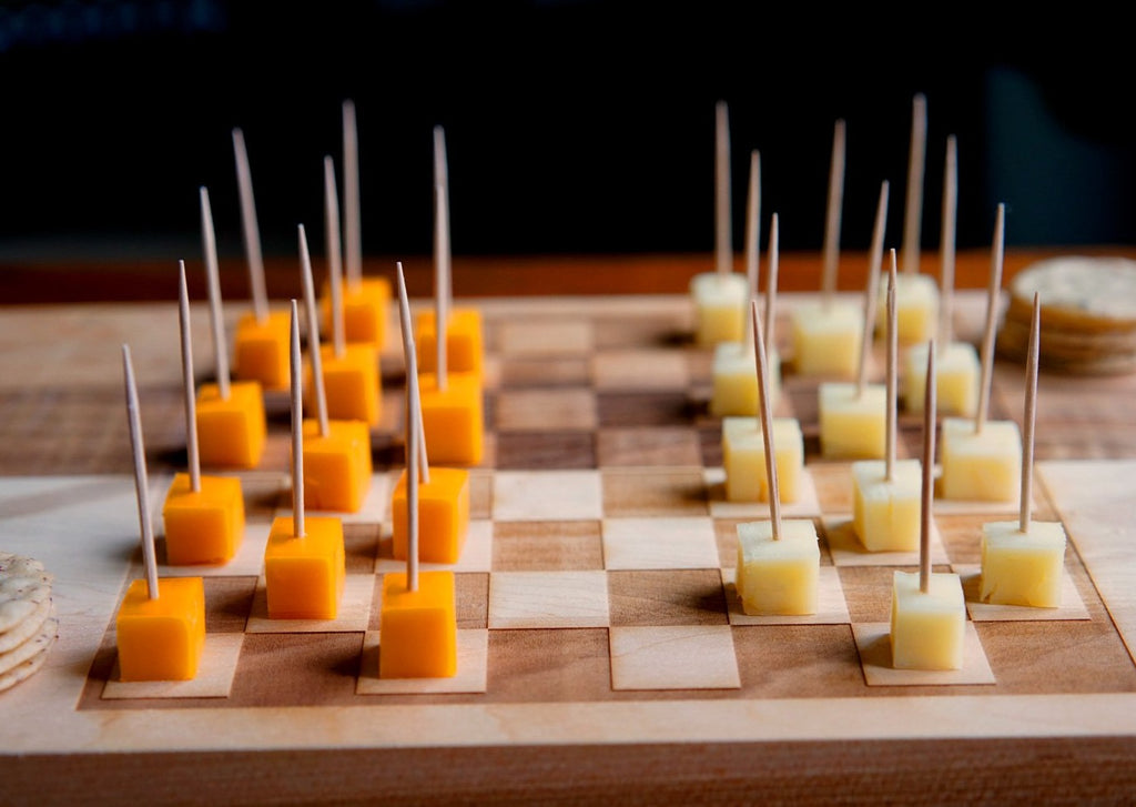 Checkers & Cheese! Double-Sided Game-Board Set