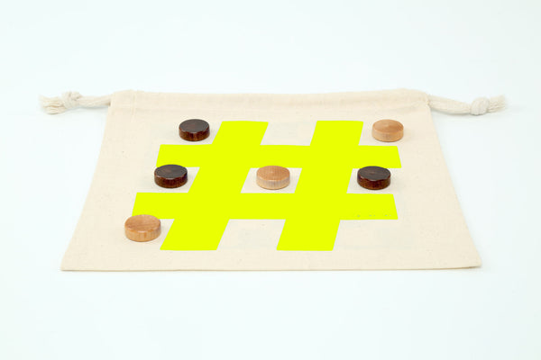 Checkers & Tic Tac Toe – Mini Game-Bag Set