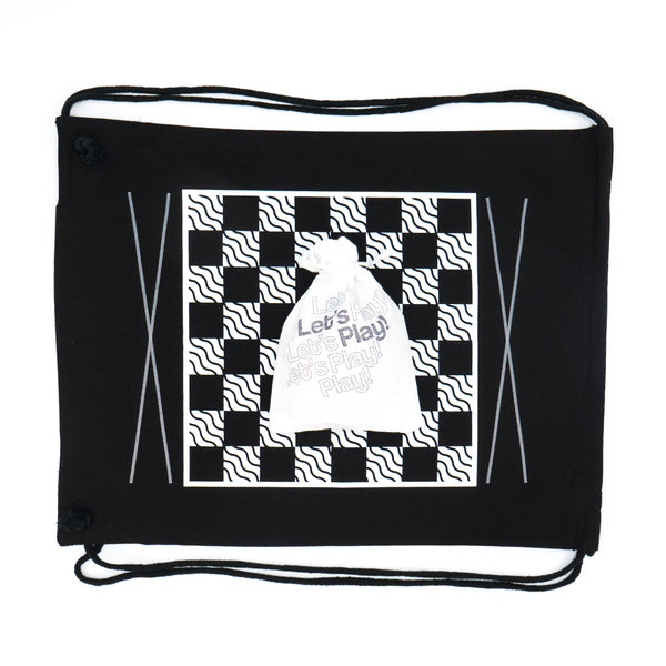 Backpack Backgammon & Checkers: Classic Black
