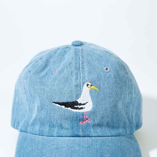 Side-Eye Seagull Hat in Washed Denim