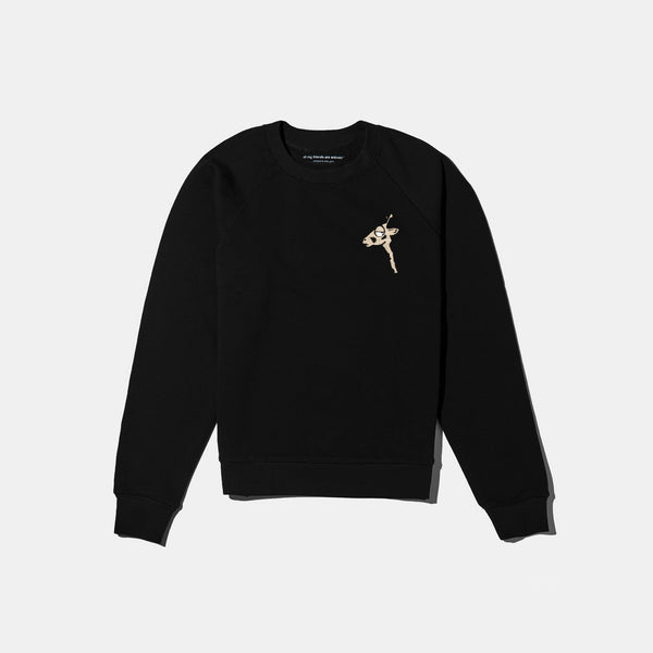 Flamingo Embroidered Crest Crewneck Crop