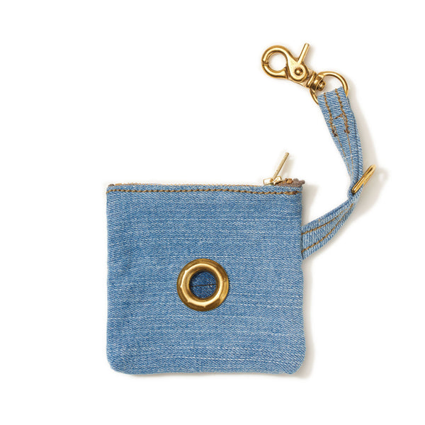 VINTAGE DENIM POOP BAG POUCH