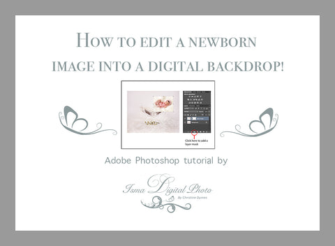 How to edit newborn image into a digital backdrop