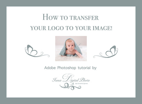 How to transfer your logo to your image!