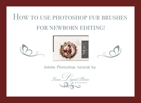 How to use Photoshop fur brushes for newborn editing