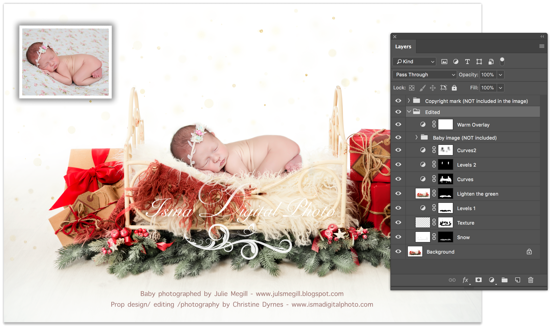 Digital Backdrop /Props for Newborn /baby photography - High resolution digital backdrop /background - one JPG and one PSD file with layers
