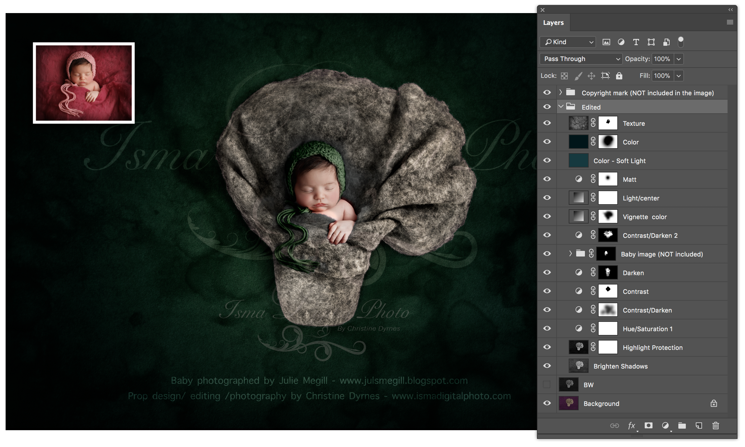Newborn felted wool bed 1 Digital Backdrop /Props for Newborn /baby photography - High resolution digital backdrop /background - One JPG and one PSD file with layers