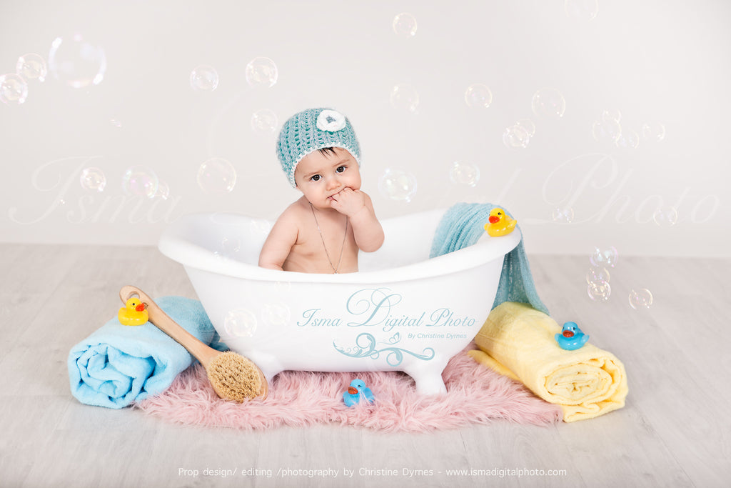 Baby Bathtub - Digital backdrop /background - psd with layers – Isma ...