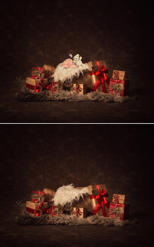 Christmas gifts digital backdrop background psd with layers
