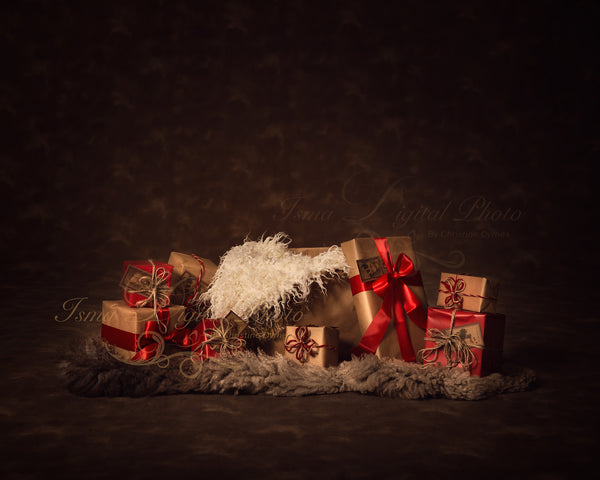 Christmas Bag And Gifts Beautiful Digital Background